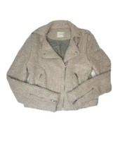 Anthropologie Elevenses Northland Moto Jacket Sweater Knit Motorcycle Si... - $98.99