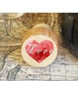 Wine Stopper, Love Over Heart Handmade Wood Bottle Stopper, Valentine's ... - $10.40