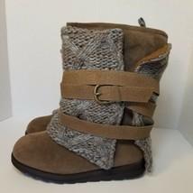 Muk Luks Womens Nikki Sweater Boots Taupe Size: 8 - $43.01