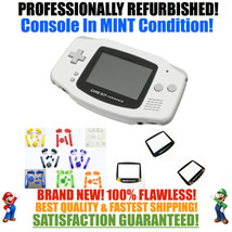 *NEW SCREEN* Nintendo Game Boy Advance GBA White System CUSTOM MINT NEW - $54.40+