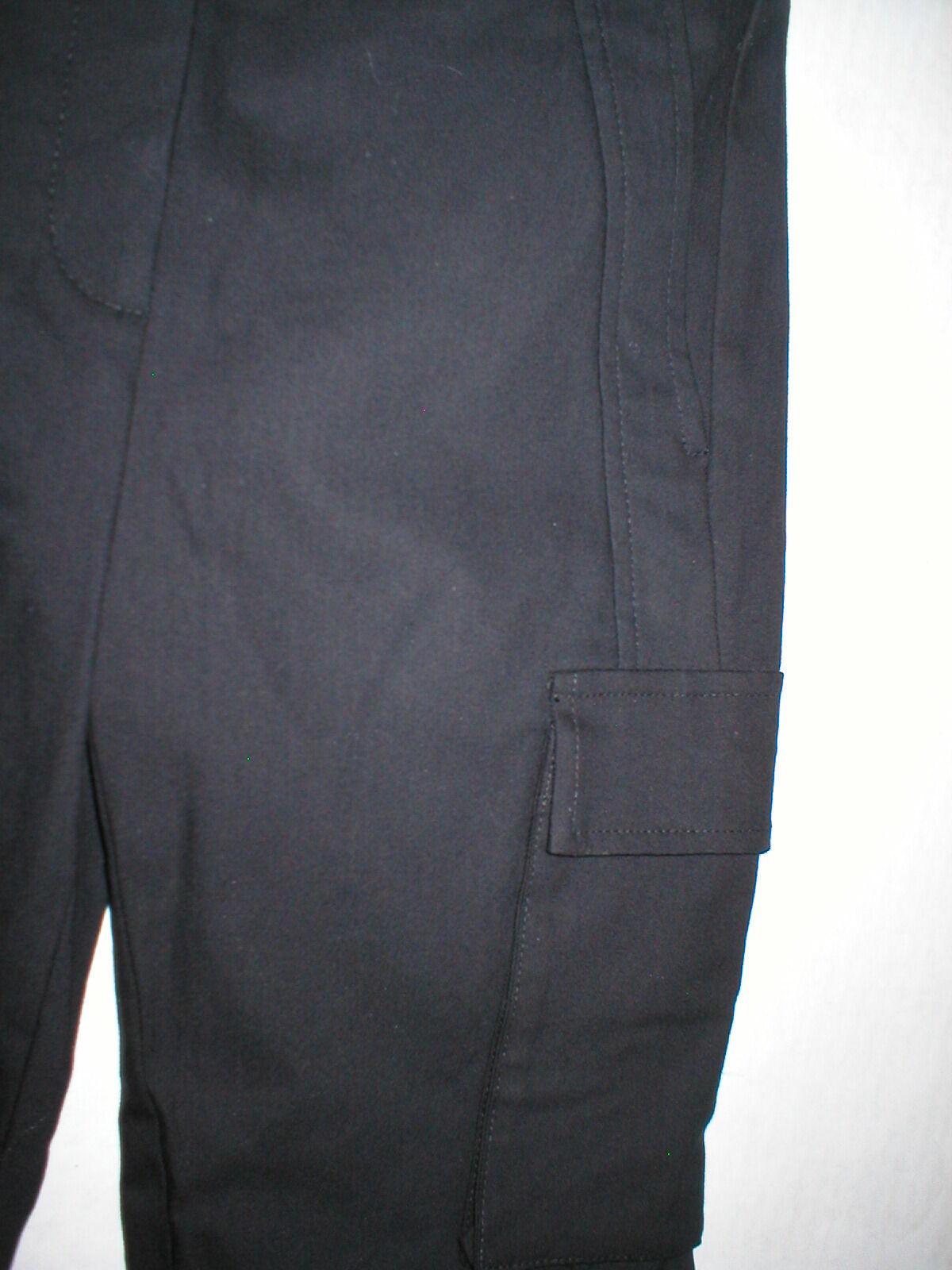 New Womens Designer NWT LAMB Gwen Stefani Cargo Pants Stretch Skinny 6 Black image 6