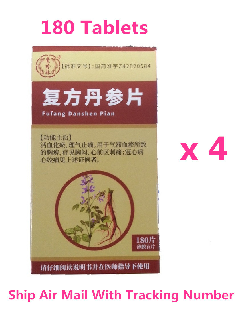 Primary image for Fu Fang Dan Shen Pian 180 Tablets Supplement Help Blood Circulation x 4 Bottles