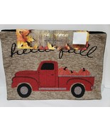 Fall Thanksgiving Vintage Red Truck HELLO FALL Tapestry Placemats Set of 4 - $19.99