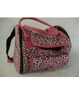 Pink Leopard Pet Carrier Soft Sided Travel Tote Bag Small Cat Dog - $25.24