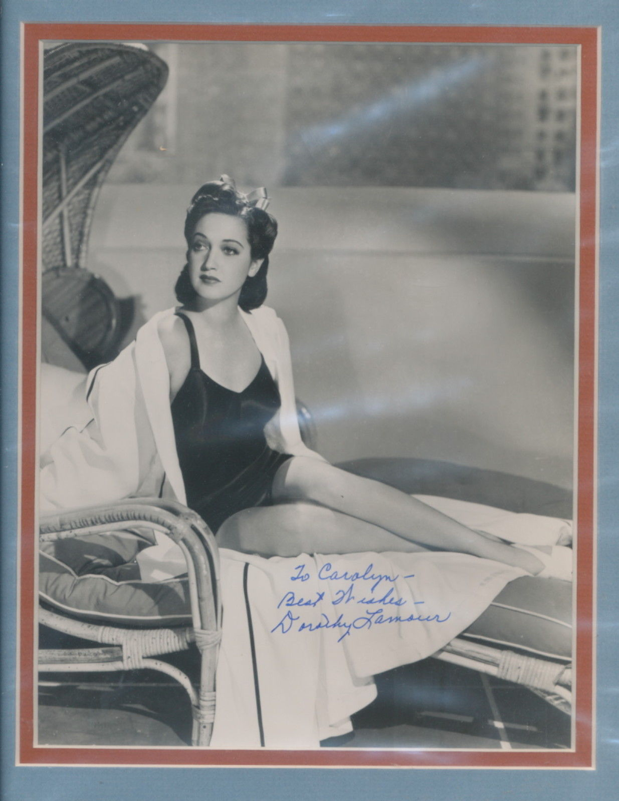 Primary image for Dorothy Lamour signed photo. Beautifully double matted. Nice !!