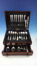 Rose Point by Wallace Sterling Silver Flatware Set For 8 Service 56 Pieces - $2,995.00