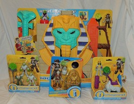 New Fisher Price Imaginext Serpent Strike Pyramid Treasure Mummy 4 Piece... - $49.49