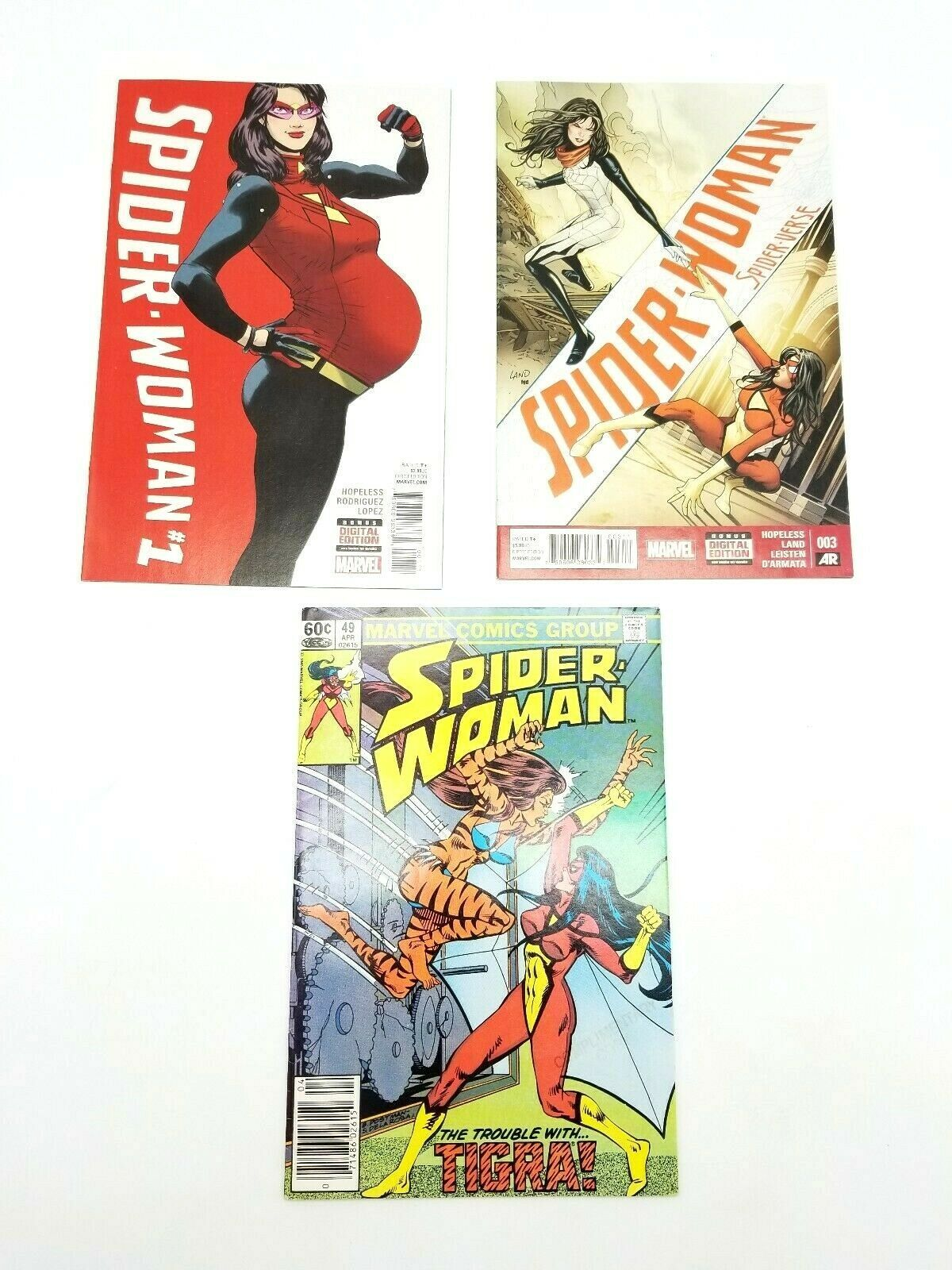 Spider Woman #1 Vol 6 #5 Vol 5 & 49 Vol 1 Marvel Comic Book Lot of 3