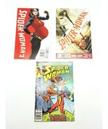 Spider Woman #1 Vol 6 #5 Vol 5 & 49 Vol 1 Marvel Comic Book Lot of 3 - $17.34