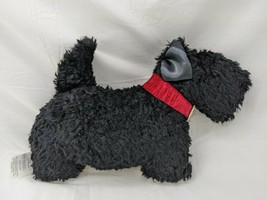 """Woof & Poof Scotty Dog Plush Black 8"""" Deck the Halls Musical Wind Up 2010 Toy - $24.95"""