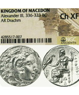 ALEXANDER the Great Lifetime NGC Choice XF Ancient Silver Coin Herakles ... - $674.10