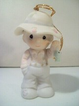 1988 PRECIOUS MOMENTS MY LOVE WILL NEVER LET YOU GO FISHERMAN ORNAMENT 1... - $12.69