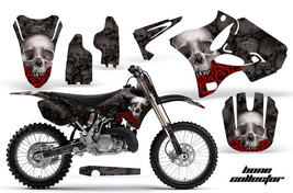 Graphics Kit Decal Wrap + # Plates for Yamaha YZ125 YZ250 2002-2014 BONES BLACK - $279.95