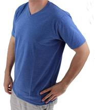 NEW GIOBERTI MEN'S CLASSIC ATHLETIC V NECK T-SHIRT TEE H-ROYAL BLUE VN-9503 image 3