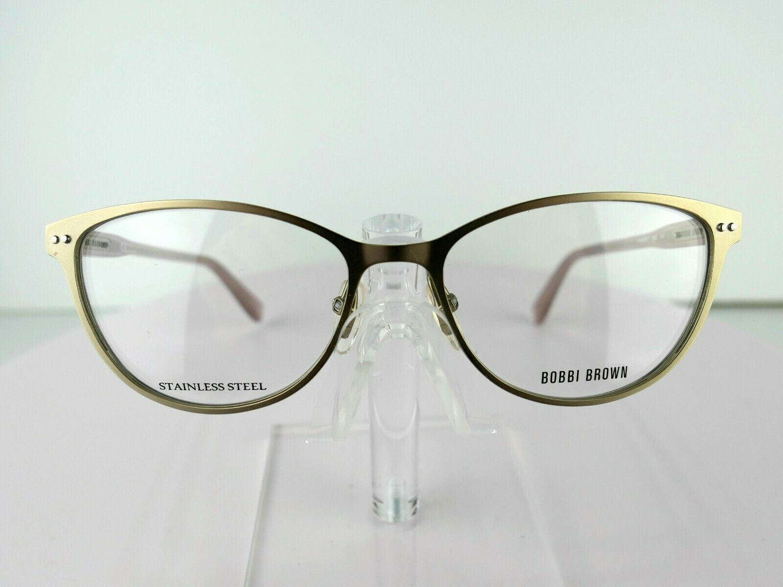 Primary image for Bobbi Brown THE MERYL (B6B) MATT SILVER W/ CASE 53 x 16 140 Eyeglass Frames