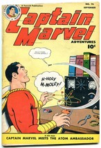 CAPTAIN MARVEL ADVENTURES #76 1947-SPECIAL ATOMIC ISSUE-  VF - $242.50
