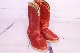 Disney Toy Story Jessie Red Glitter Shimmer Cowboy Boots Girls Shoes Siz... - $27.76