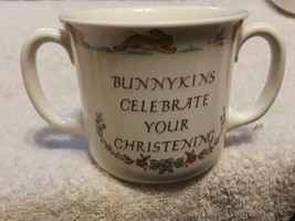 Royal doulton bunnykins cup two handles Christening gift Excellent condition 3x3 - $4.75