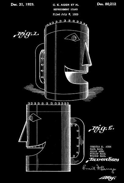 Primary image for 1929 - Refreshment Stand - C. E. Ager - Patent Art Poster