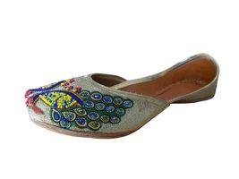 Women Shoes Traditional Indian Handmade Designer Mojari Leather Jutties US 6-9 - $39.99