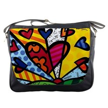 Messenger Bag Romero Britto Love Design Animation Brazilian Neo Pop Artist Paint - $30.00