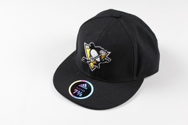 New Sample ADIDAS Pittsburgh Penguins Hockey NHL 7 3/8 Fitted Classic Lo... - $22.23