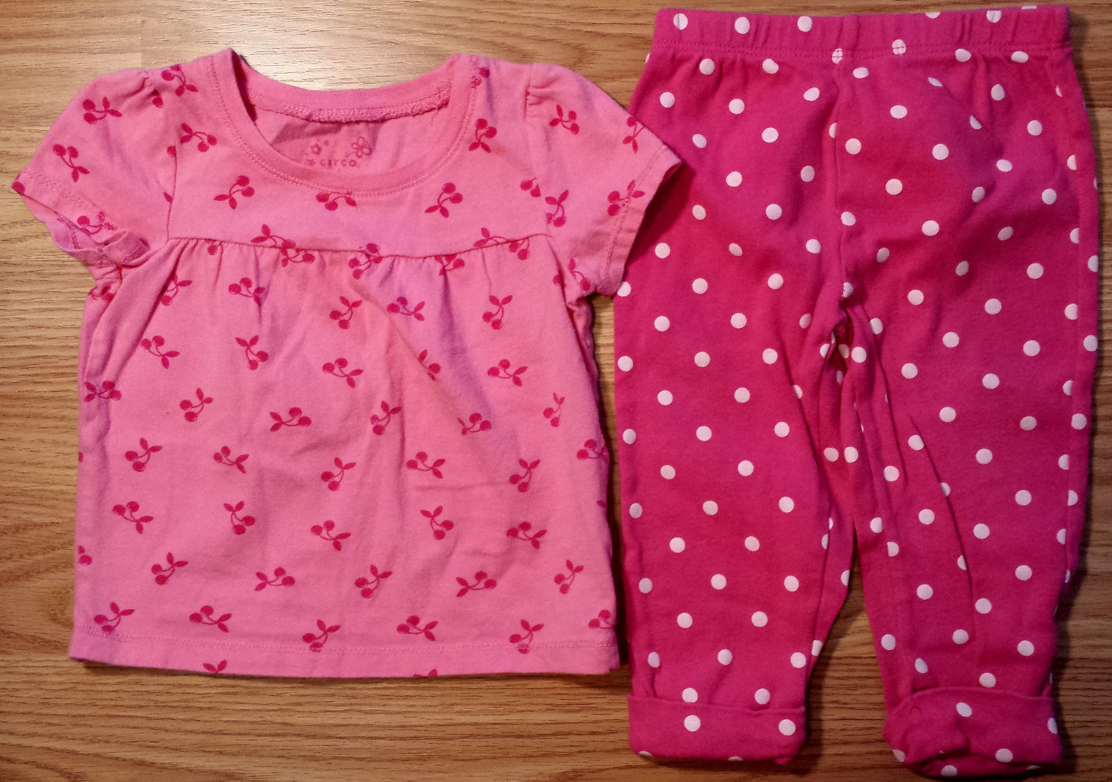 dbf36fad3 S l1600. S l1600. Previous. Girl's Size 12 M Months Two Piece Pink Chery  Designed Circo Top & Carter's Pants