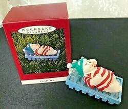 1993 Hallmark Keepsake Ornament Water Bed Snooze Clip-On - $11.39
