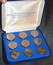 Susan B. Anthony Set of 9 One Dollar Coins AA19-CND6036 image 2