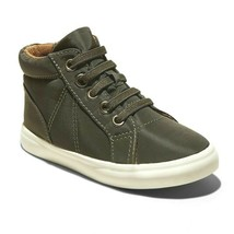 Cat & Jack Kleinkind Jungen Olivgrün Ford Hohe Zip-On Sneakers Nwt