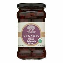 Divina - Organic Olives - Kalamata Sliced - Case Of 6 - 5.6 Oz. - 45263860 - $51.97