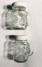Golden Harvest Mini Mason Glass Jars Salt & Pepper Shaker Set Of 2 - $9.20
