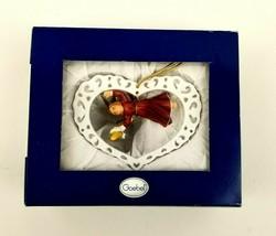 "2002 Goebel Ornament Hanging Angel in Heart Frame 2002 NEW In Box 3.75"" - $12.99"
