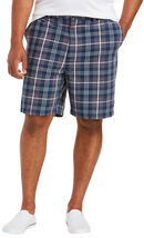 Men's Classic Fit Flat Front Cotton Plaid Stripe Pattern Lightweight Shorts image 5