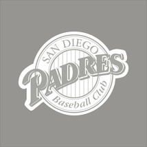 San Diego Padres #10 MLB Team Logo 1 Color Vinyl Decal Sticker Car Window Wall - $3.95+