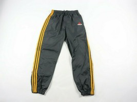 Vintage 90s Adidas Mens Small Spell Out Striped Nylon Joggers Jogger Pan... - $44.50