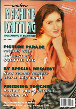Modern Machine Knitting Jul 1995 Magazine Scottie Dogs, Mini Dress and more - $7.12