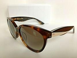 New Christian DIOR Envol3 LWGHA Tortoise Cats Eye Women's Sunglasses Italy - $399.99