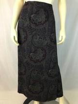 Talbots Skirt 12 Vintage Long Wool Paisley Wrap Lined Blue Purple Tones ... - $47.52
