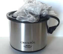 "Mini Crock-Pot-16-Oz ""LITTLE DIPPER"" Chrome Slow Cooker Warmer Portable ... - $15.00"