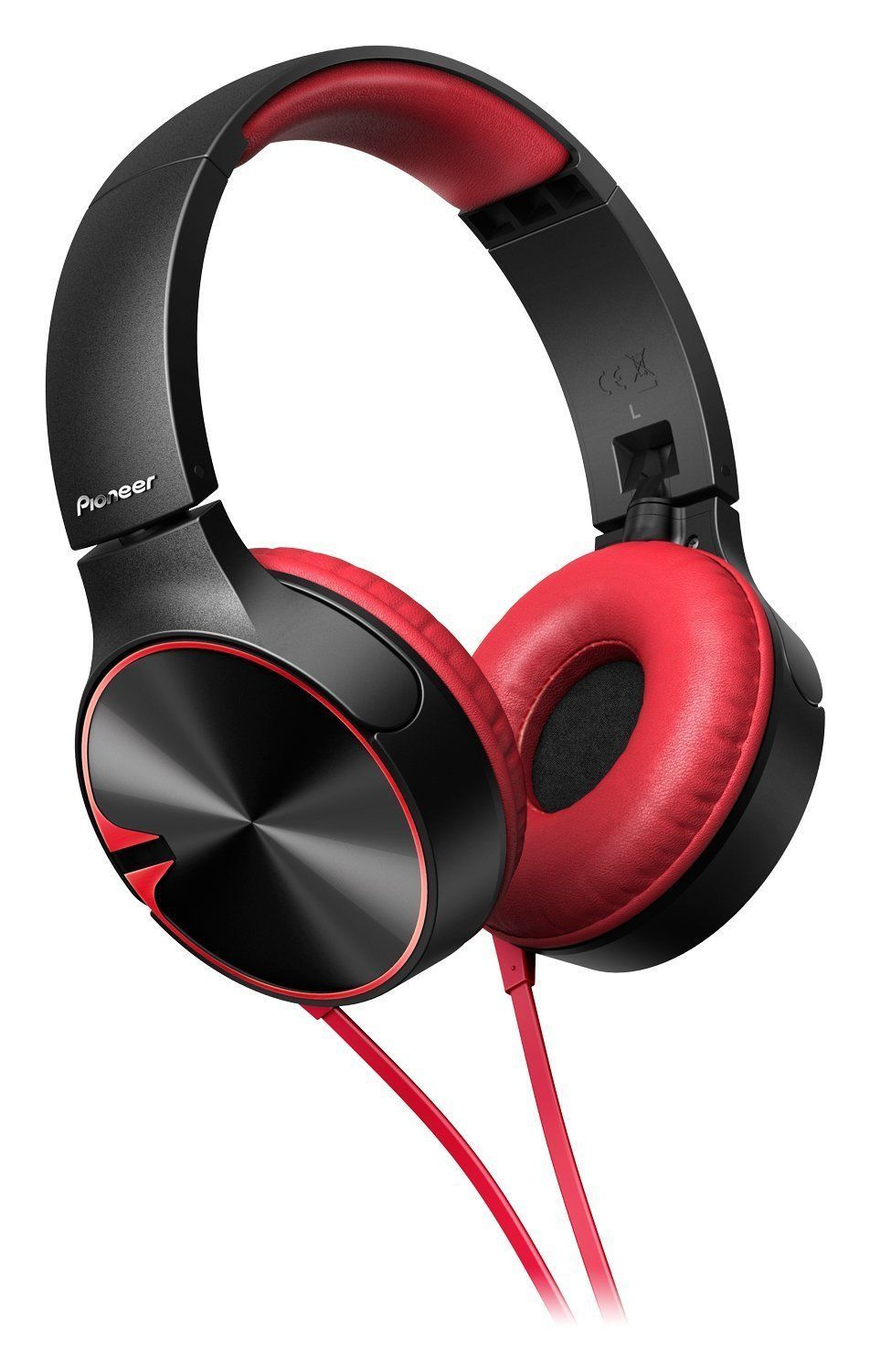 Pioneer Headphone SE-MJ722TR with Microphone (Black Red)