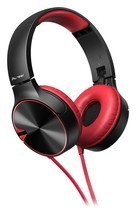 Pioneer Headphone SE-MJ722TR with Microphone (Black Red) - $66.88