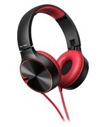 Pioneer Headphone SE-MJ722TR with Microphone (Black Red) - $88.30 CAD