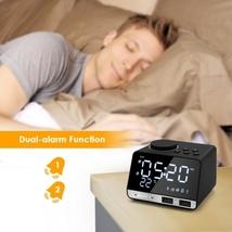 Inlife K11 Bluetooth 4.2 Radio Alarm Clock Speaker with 2 USB Ports - $39.89