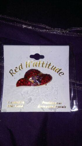 RED HAT SOCIETY BROOCH / PIN