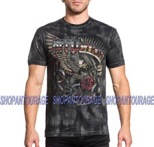 Affliction Metal Split A19011 New Men`s Black T-shirt - $54.95