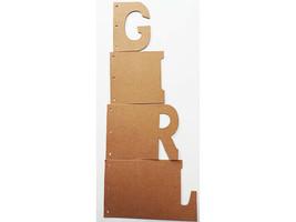 "Nicole Crafts Build a Memory ""GIRL"" Chipboard Album #MEM5408 image 2"