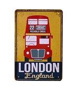 East Majik London Bus Pattern Metal Painting, Stylish Item for Tea Shop ... - $26.85