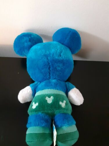 """Disney World Parks Mickey Mouse Monsters Plush Stuffed Animal Blue 10"""" Tall"""