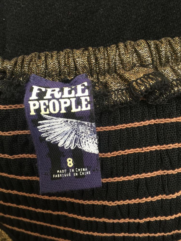 Free People M Dress Lost In Paradise Velvet Metallic Mini Removable Straps